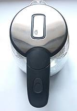 Электрочайник дисковый Domotec MS-8110 стеклянный с подсветкой, фото 3