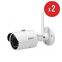 Комплект беспроводного видеонаблюдения на 2 камеры Dahua IN/OUT 3 Мп DH-IPC-HFW1320S-W