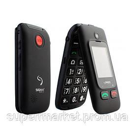 Телефон Sigma Comfort 50 Shell Dual Duo Black  бабушкофон