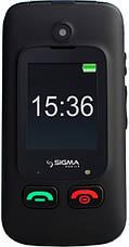 Телефон Sigma Comfort 50 Shell Dual Duo Black  бабушкофон, фото 2
