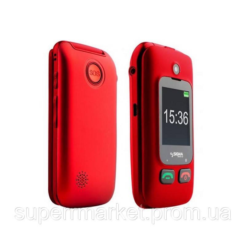 Телефон Sigma Comfort 50 Shell Dual Duo Red  бабушкофон