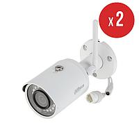 Комплект беспроводного видеонаблюдения на 2 камеры Dahua IN/OUT 4 Мп DH-IPC-HFW1435SP-W