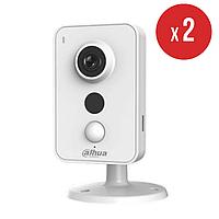Комплект беспроводного видеонаблюдения на 2 камеры Dahua IN 3 Мп DH-IPC-K35P