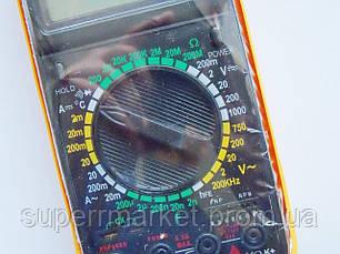 Цифровой мультиметр Тестер DT-9208A, фото 2