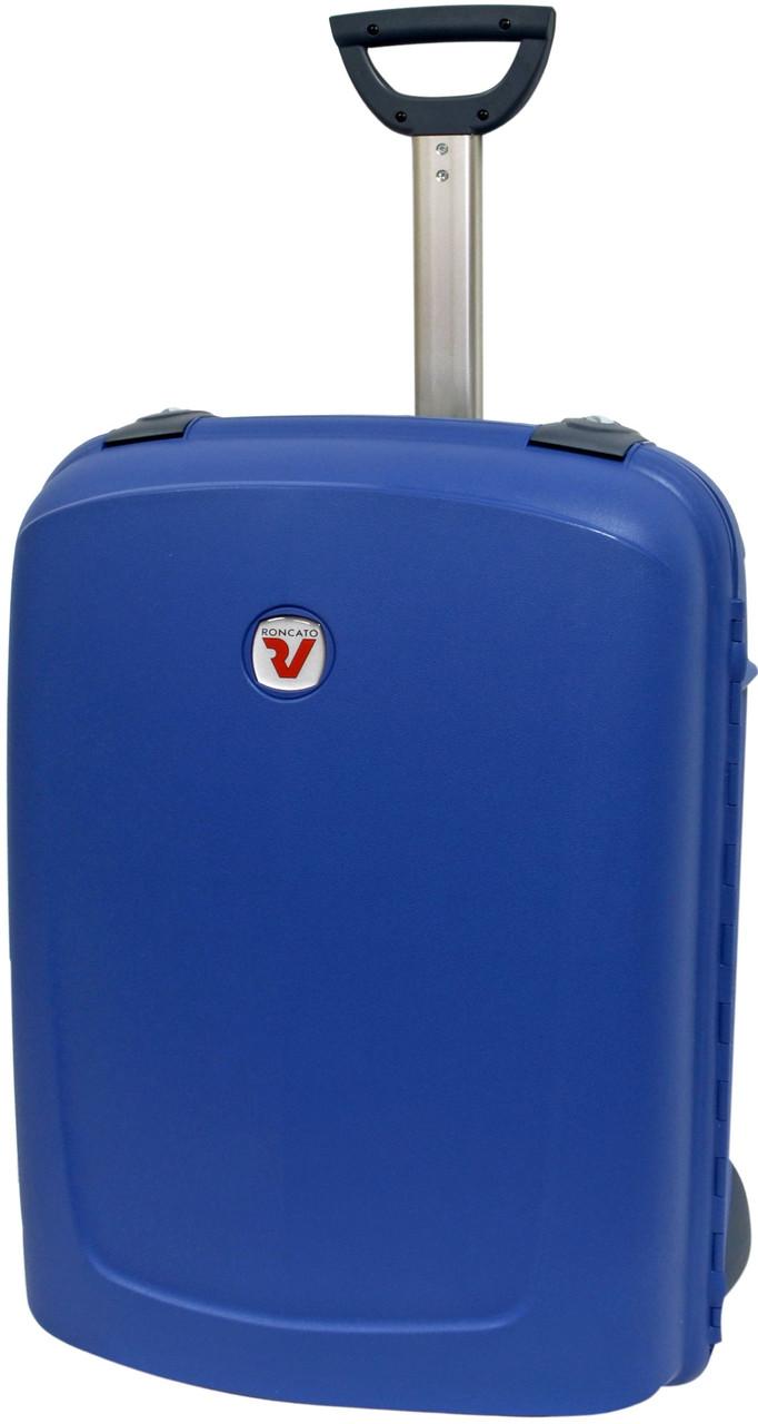 Большой чемодан из пластика 85 л., четырехколесный Roncato New Shuttle 500672/33 синий