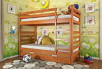 Кровать детская двухъярусная трансформер Рио из натурального дерева