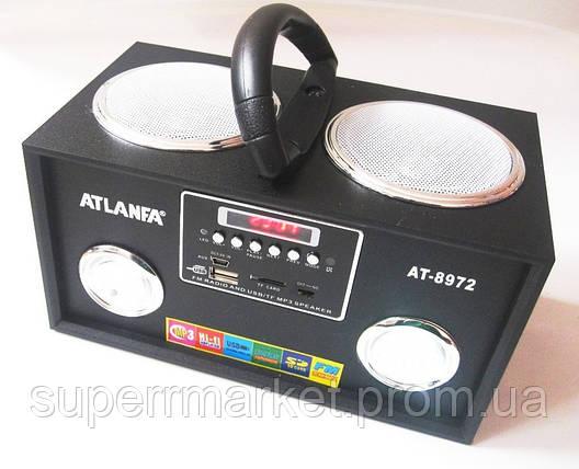 Акустика Atlanfa AT-8972, MP3 SD USB FM , black, фото 2
