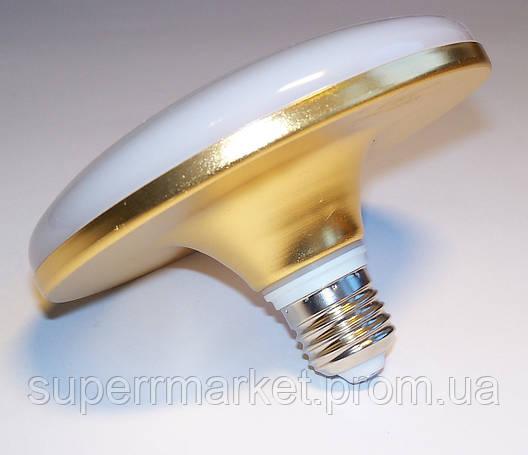 Светодиодная лампа-светильник LED UKC 220V 24W E27 плоская, 1202, фото 2