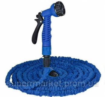 ШЛАНГ садовый X-Hose 15m 50ft steel  Magic Hose , синий, фото 2