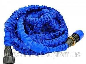 ШЛАНГ садовый X-Hose 15m 50ft steel  Magic Hose , синий, фото 3