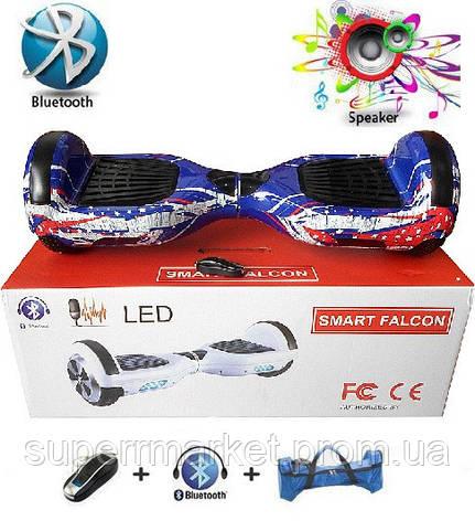 "Гироборд 6""  подсветка, колонка, пульт ДУ, Bluetooth, чехол  Smart Balance A3-6, фото 2"