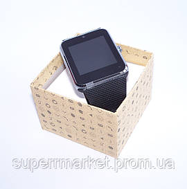 Смарт часы - телефон SMART WATCH GT08 GSM  в стиле Apple Watch  черные с сребером