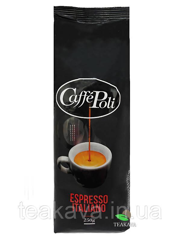 Кофе в зернах Caffe Poli Espresso Italiano in grani, 250 г (20/80)