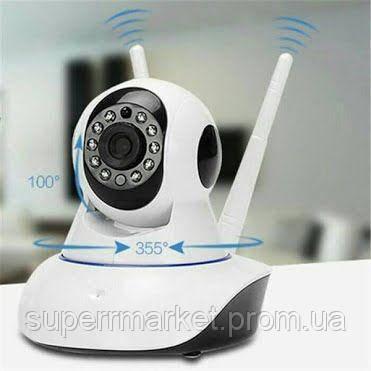 Беспроводная WIFI IP P2P поворотная камера видеоняня dvr X8100-MH36 HD датчик движения IR подсветка, фото 2