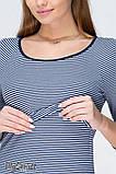 Платье для беременных и кормящих LOLLY DR-19.021, сине-белая полоска, размер М, фото 3