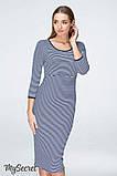 Платье для беременных и кормящих LOLLY DR-19.021, сине-белая полоска, размер М, фото 6