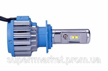 Автомобильные лампы T1 car LED H7 35W 6000K + Power Driver  комплект 2шт