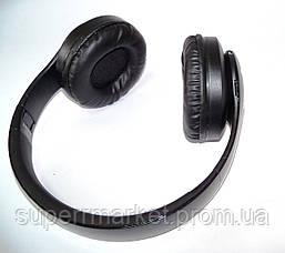 Беспроводные наушники P35 WIRELESS HEADPHONE  FM MP3 SD микрофон  BLACK, фото 3