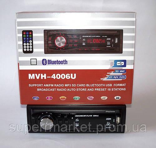 Автомагнитола Pioneer MVH-4006U 60W MP3 SD USB AUX FM, фото 2