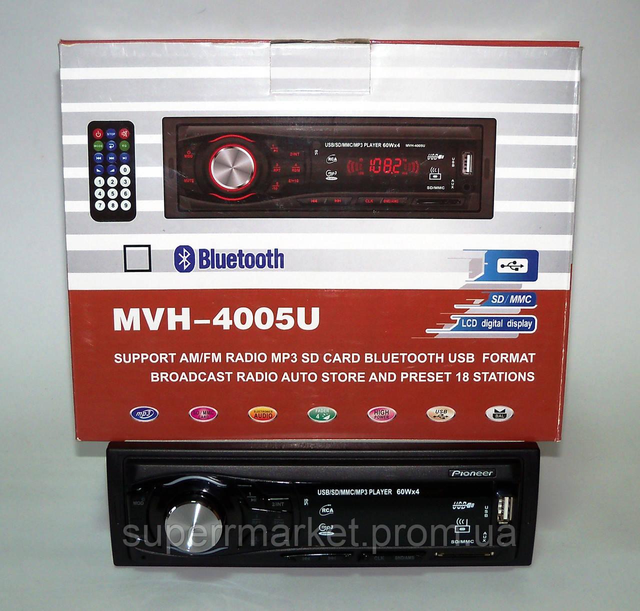 Автомагнитола Pioneer MVH-4005U 60W MP3 SD USB AUX FM