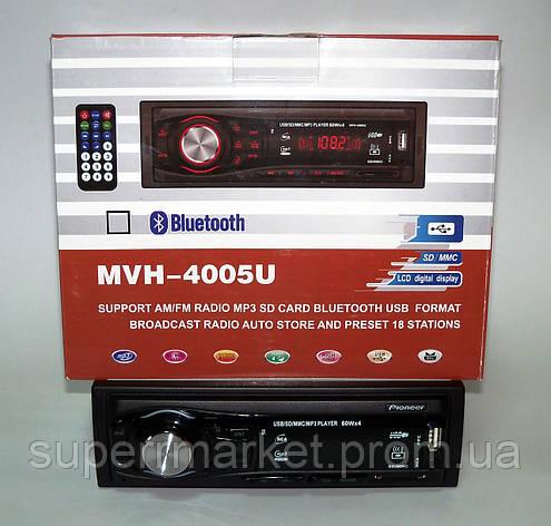 Автомагнитола Pioneer MVH-4005U 60W MP3 SD USB AUX FM, фото 2