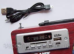 Акустика Atlanfa AT-R82, MP3 SD USB FM, красное дерево, фото 2