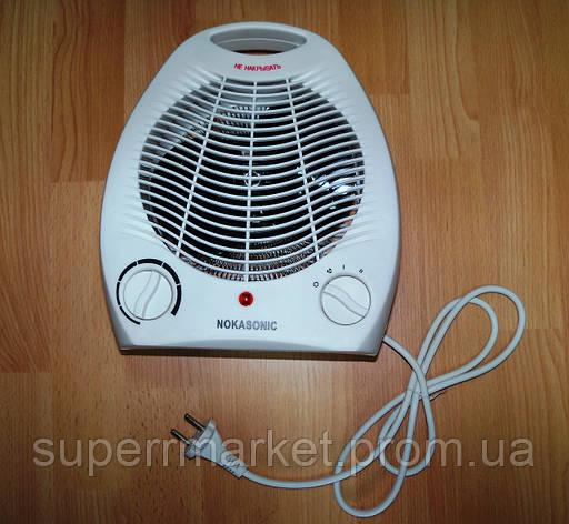 Электрический бытовой напольный тепловентилятор Nokasonic NK-200-А обогреватель, фото 2