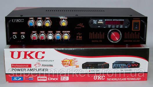 Рэковый усилитель мощности 2*90W UKC KA-102F MP3 FM Karaoke, фото 2