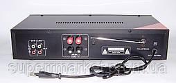 Рэковый усилитель мощности 2*90W UKC KA-102F MP3 FM Karaoke, фото 3