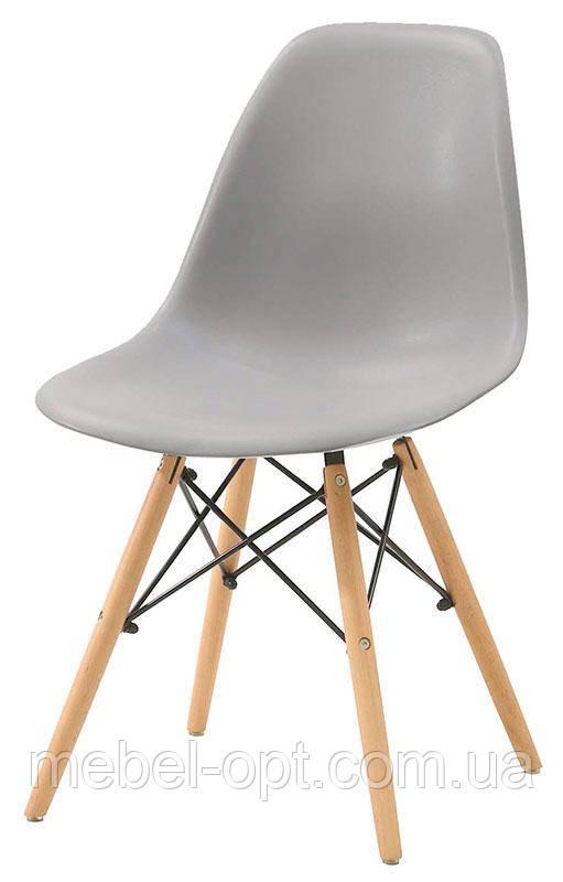 Стул дизайнерский Nik Eames DSW серый 10 на деревянных буковых ножках