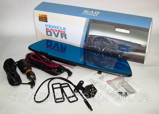 """Vehicle Blackbox DVR T605 сенсорный экран 4.5"""", видеорегистратор, зеркало + доп. камера для парковки, фото 2"""
