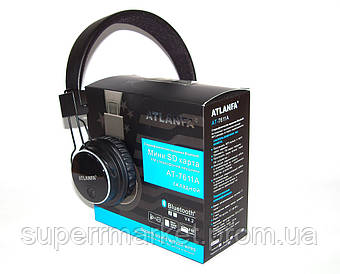 Наушники ATLANFA AT-7611 гарнитура с MP3 FM Bluetooth