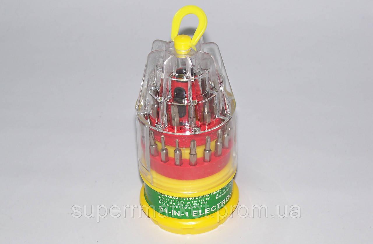 Набор отверток, отвертка с насадками 31-in-1 electroc screwdriver set 9031