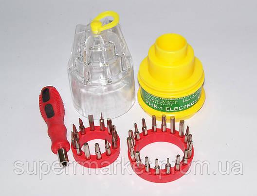 Набор отверток, отвертка с насадками 31-in-1 electroc screwdriver set 9031, фото 2