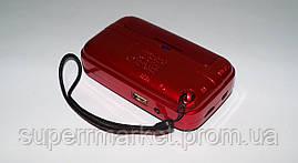 Радио с часами UKC SPS U11  JF11  NEW с MP3, красный, фото 3