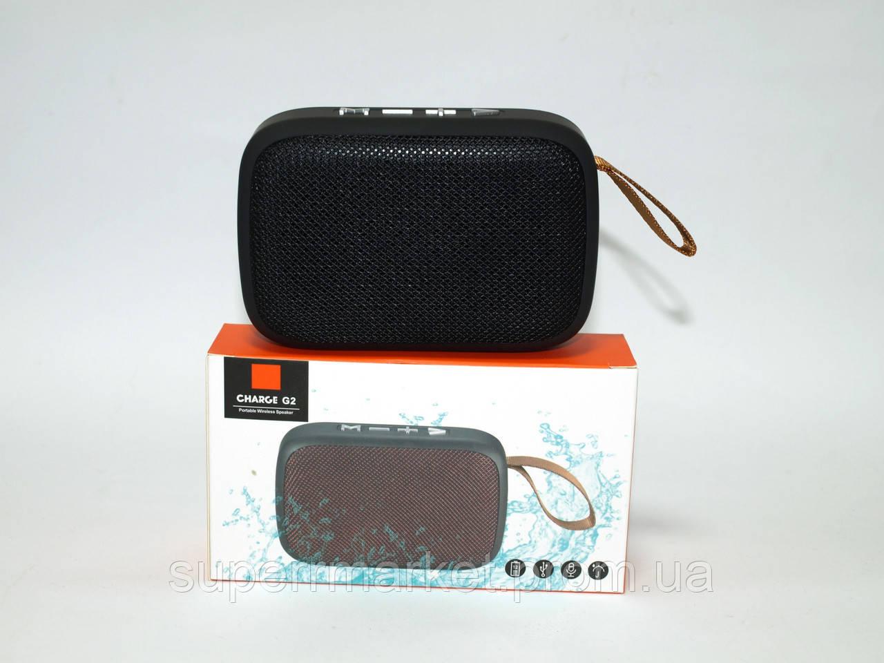 JBL Charge G2 mini 3W копия, портативная колонка Bluetooth FM MP3, черная