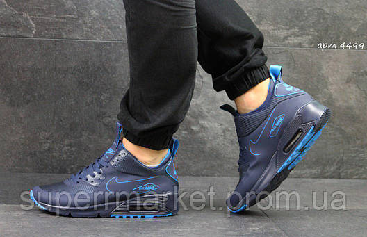 Кроссовки Nike Air Max 90 Ultra Mid  синие, фото 2