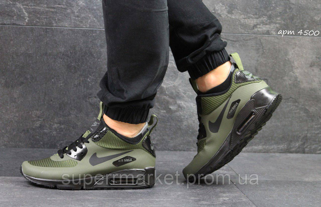 Кроссовки Nike Air Max 90 Ultra Mid (темно зеленые)
