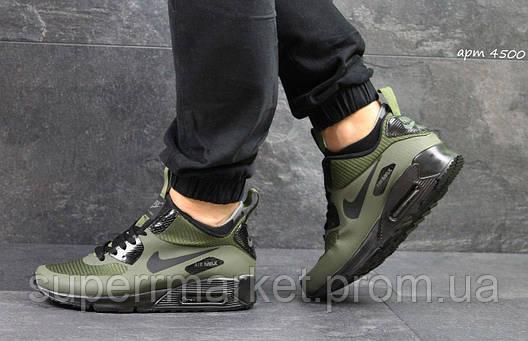 Кроссовки Nike Air Max 90 Ultra Mid (темно зеленые), фото 2