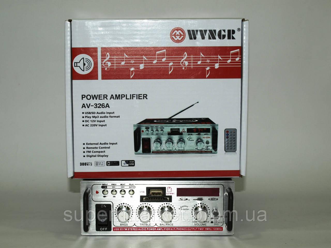 WVNGR AV-326A 50W усилитель звука  705 ресивер   MP3 FM 12v 220v