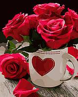 Художественный творческий набор, картина по номерам Яркие розы, 40x50 см, «Art Story» (AS0020), фото 1