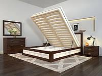 Кровать деревянная с подъемным механизмом Рената М из натурального дерева, фото 1