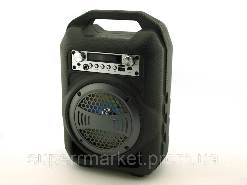 Колонка - чемодан BS12 9W boombox с караоке FM MP3