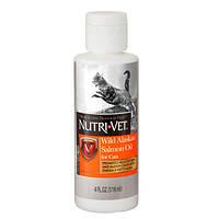 Nutri-Vet Salmon Oil витаминная добавка для шерсти кошек 118 мл