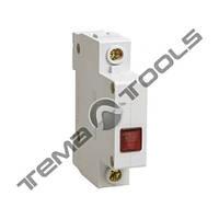Модульная сигнальная лампа ЛСН красная на DIN-рейку