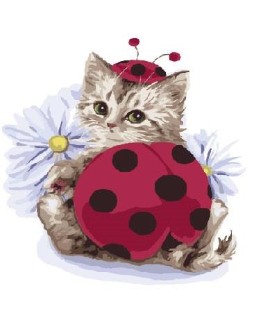 Картина по номерам Милый котик, 40x50 см., Brushme