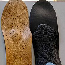 Ортопедичні анатомічні шкіряні устілки чоловічі, жіночі пята антишок, устілки для взуття
