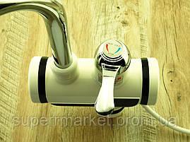 Проточный водонагреватель кран Делимано 3000W с термометром, 008 вертикальн. подключение., фото 3