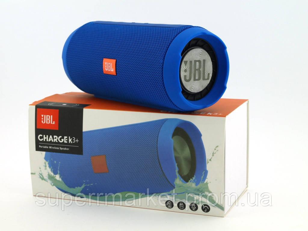 JBL Charge K3+ 15W копия, портативная колонка с Bluetooth FM MP3, синяя