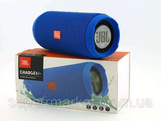 JBL Charge K3+ 15W копия, портативная колонка с Bluetooth FM MP3, синяя, фото 2